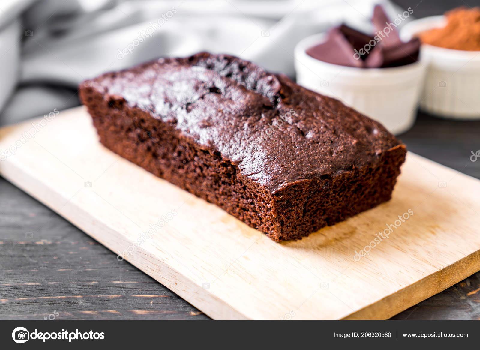 Schokoladen Brownie Kuchen Auf Holz Hintergrund Stockfoto C Topntp