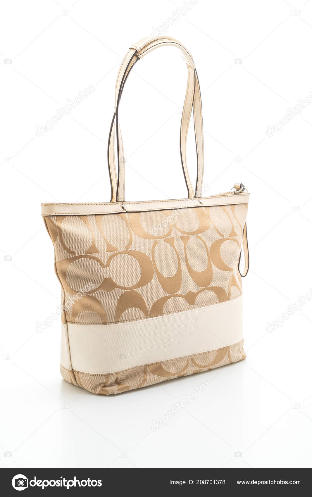 78bce402456b Bangkok Thailand July 2018 Coach Bag Isolated White Background. Thaivisa  Classifieds Leather Handbag Michael Kors Articles Misc Clothing Shoes  Apparel ...