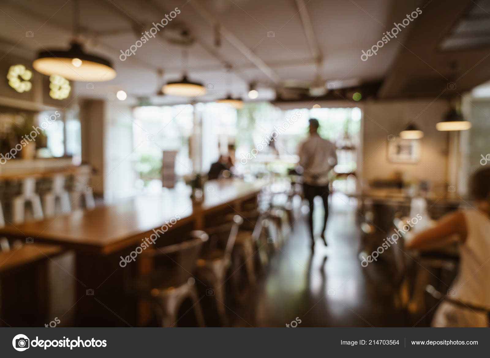 Abstract Blur Defocused Cafe Restaurant Background Vintage Filter Stock Photo C Topntp 214703564