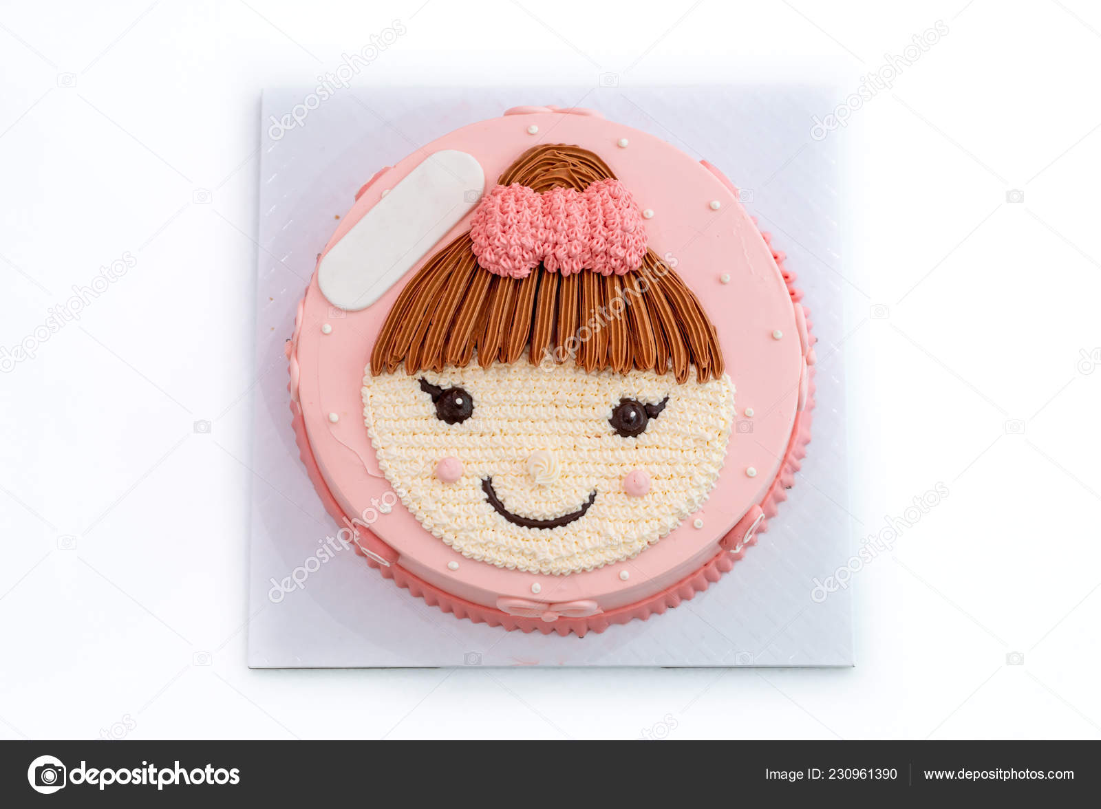 Groovy Happy Birthday Cake Cute Girl Top Cake Stock Photo C Topntp Funny Birthday Cards Online Overcheapnameinfo