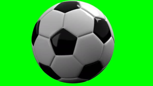 soccer ball, 4K format with green screen to put on any video