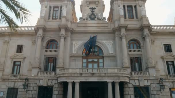 tracking shot on the post office building in Valencia, Spain