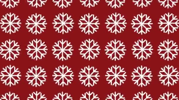 animated pattern with snow crystal ideal for the Christmas season