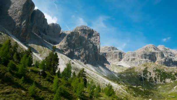 timelapse in the Puez Odle national park, Dolomites