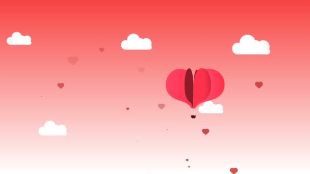 very sweet animation that represents with a heart-shaped balloon the feeling of love and passion, ideal for celebrating Valentines Day