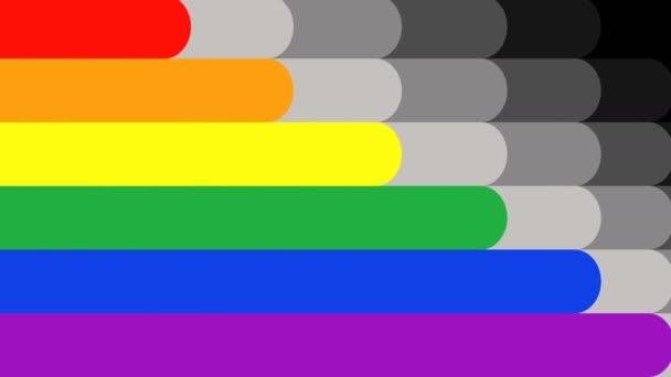 Duhová vlajka je tvarovaná, ideální stopáž představuje lásku a rovnosti pohlaví