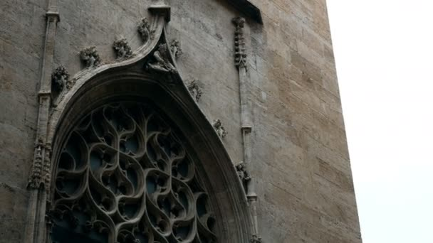 ornaments and sculptures of the Gothic period on the gates of a church in Valencia