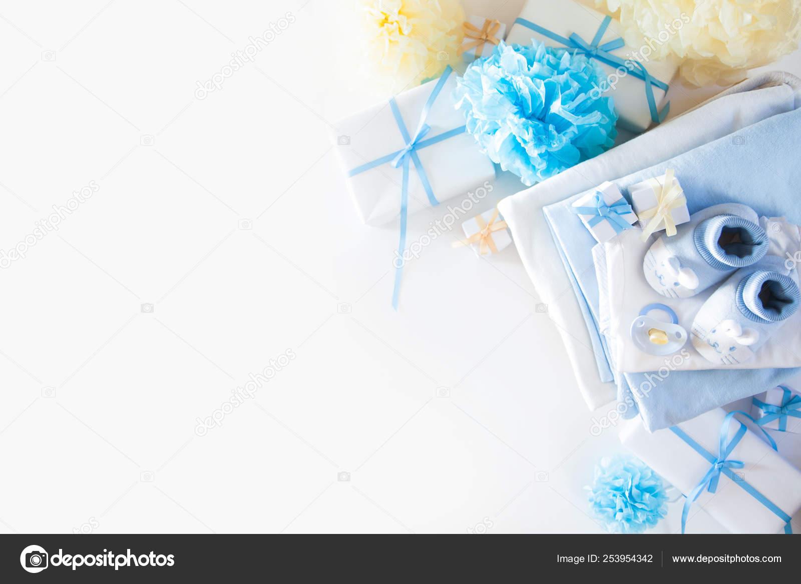 Its A Boy Blue Theme Baby Shower Or Nursery Background With Dec Stock Photo C Dalivl Yandex Ru 253954342
