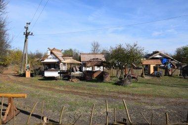 Ethnic Cossack village in the Kuban