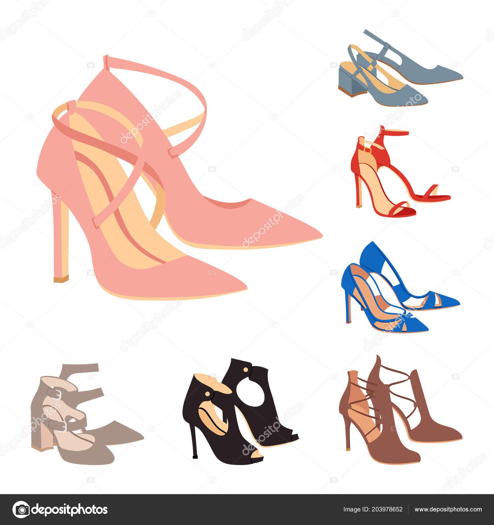 6bbd96e3fe98a Damskie buty Płaska konstrukcja wektor obuwie buty sklep ad Moda Buty  kolekcja ręcznie rysowane stylu skóry kolorowe mokasyny ilustracja zużycie–  ilustracja ...