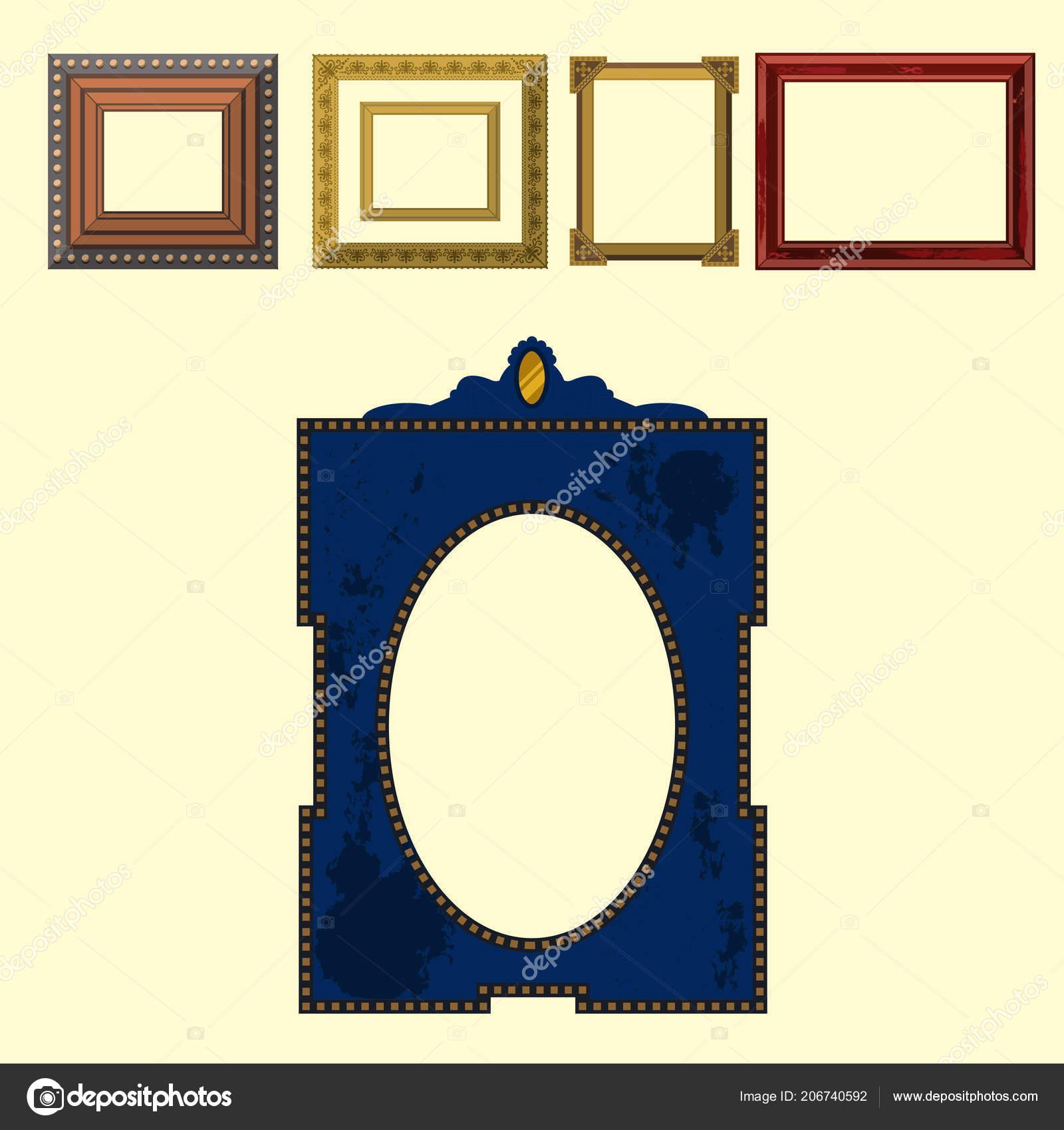 Picture frame museum interior exhibition decorative vector photo art ...