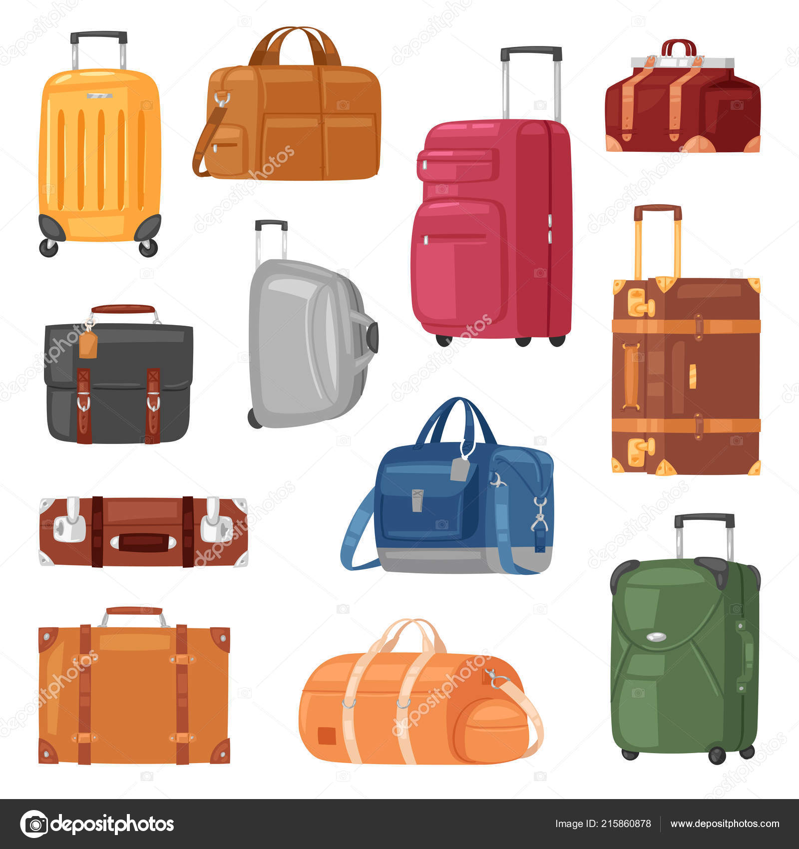 8961c2e41e Ταξιδεύουν τσάντα διάνυσμα αποσκευών βαλίτσα για ταξίδι διακοπές τουρισμός  εικονογράφηση σετ ταξιδιού αποσκευών και περιοδεία περιπέτεια