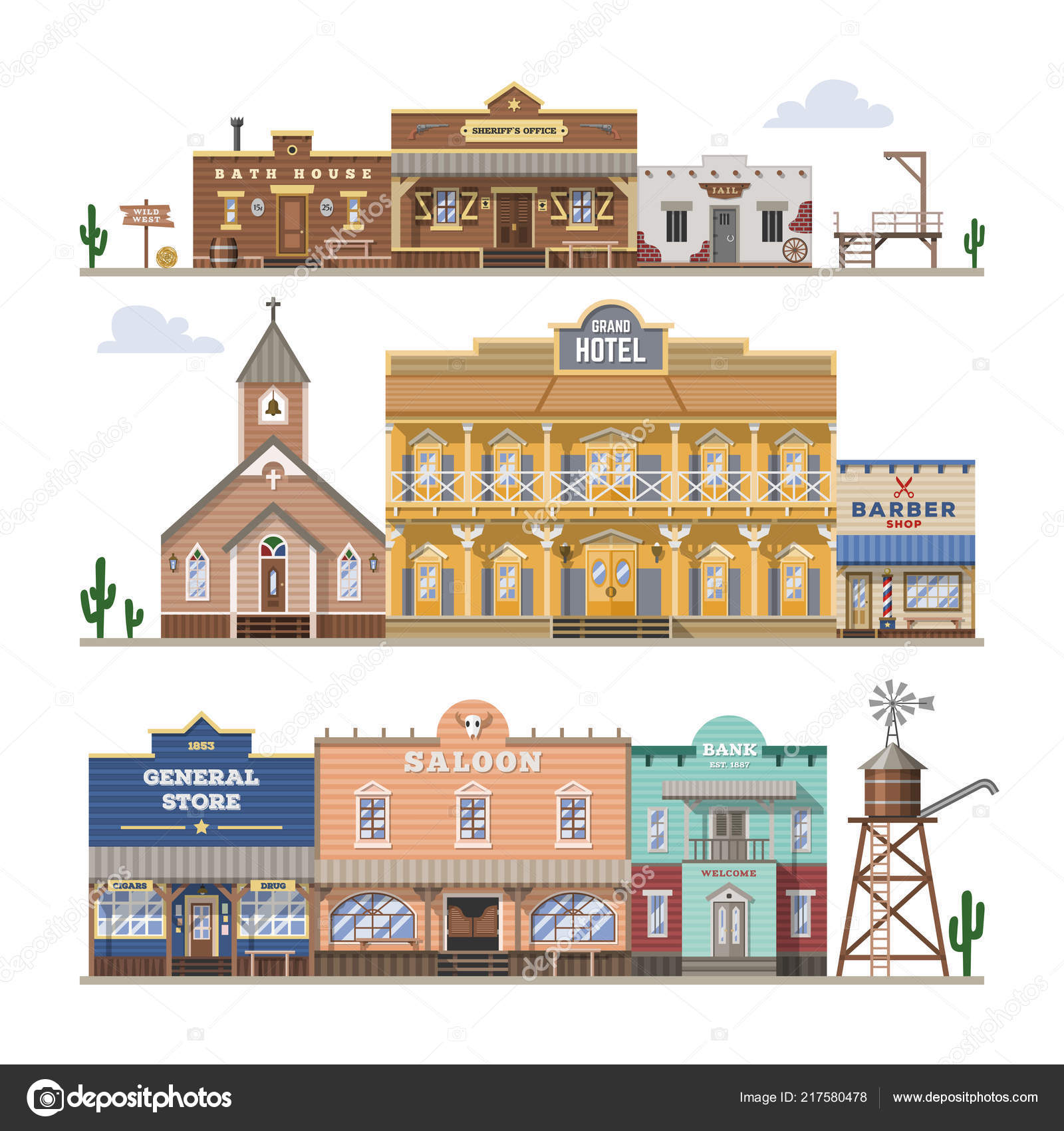 saloon vector wild west building and western cowboys house or bar in