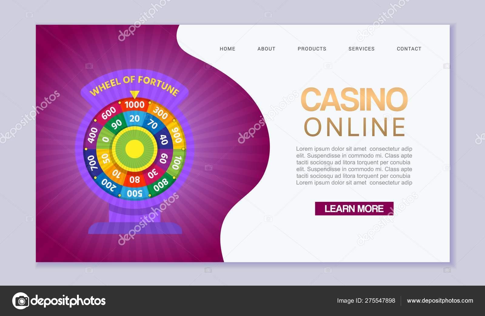 Online casino, internet gambling, wheel of fortune  Website