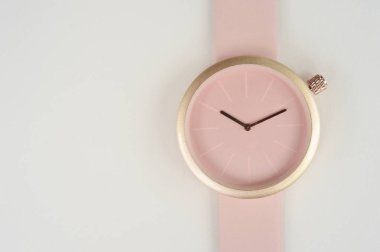 close up of pink wrist watches for background