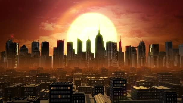 Ez az animációs város jött létre az Adobe After Effects és tökéletes minden projekt. Ez a felvétel áll rendelkezésre nappal, naplemente, és éjszaka.