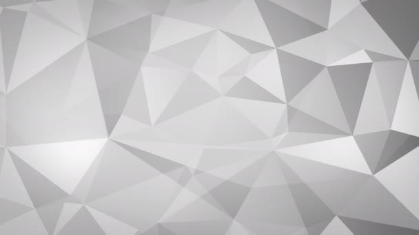 Animált fényes háromszög fraktál háttér