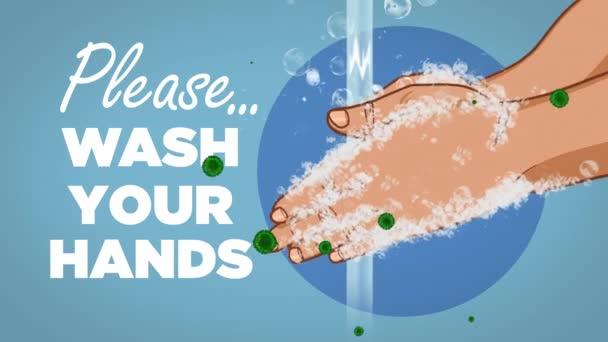 Kérlek mosd meg a kezed Coronavirus Animation
