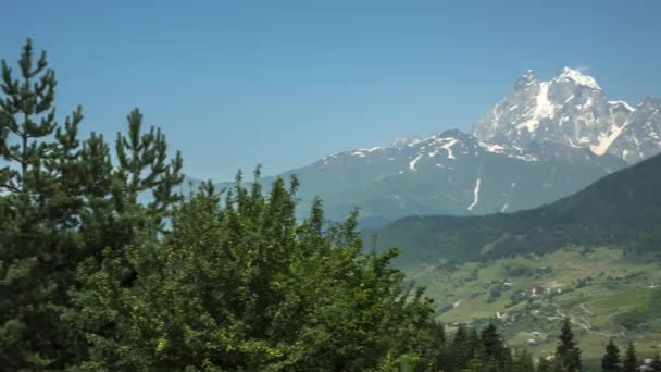 Mountain landscape, Picturesque panorama with high mountains, the nature of the Caucasus