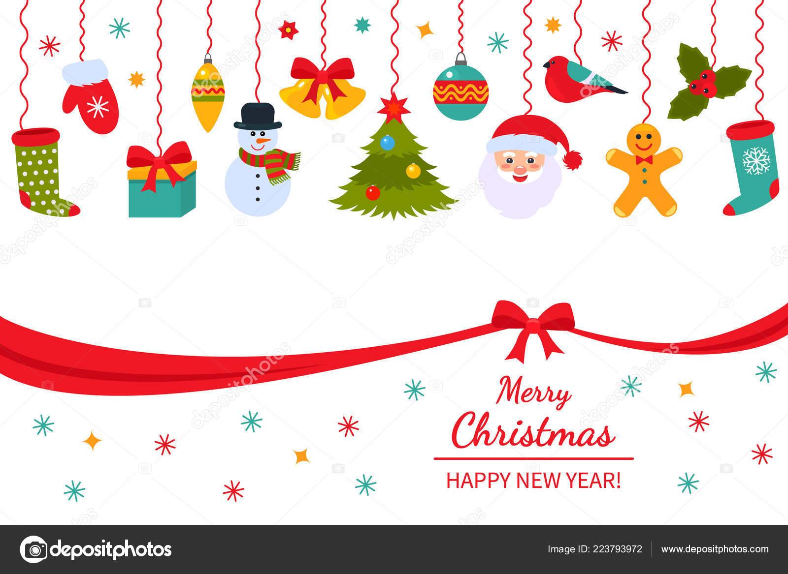 Christmas Ball Garlands.Christmas Poster Packaging Traditional Hanging Christmas
