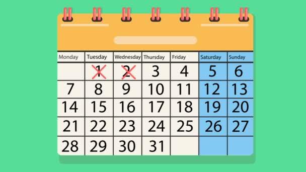 calendario in cui sono contrassegnati i numeri