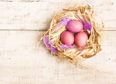 Easter eggs in nest, Holiday decor