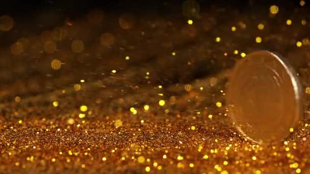 arany csillám fröccsenés sötét felületen