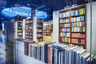 Kiev, Ukraine - December, 2018: Famous international books for sale in the Libri bookstore, one of the book retailers in Ukraine. - image