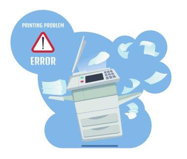 Printer Error. Vector Illustration