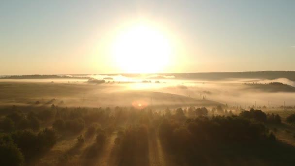 Fog in Russian Village