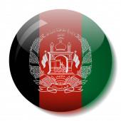 Afghan flag glass button vector illustration