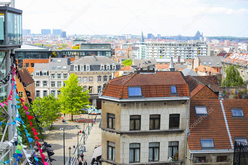 Brussels cityscape, Belgium.