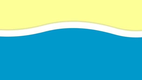 onde sulla sabbia spiaggia animazione rendering