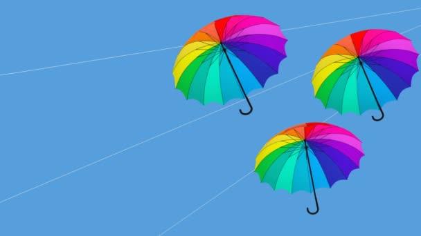 Regenschirm hängende Animation 3D-Illustration render2