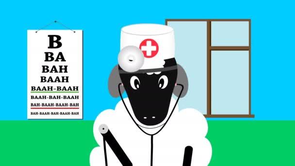 Ovce v lékaře uniformu s stetoskop