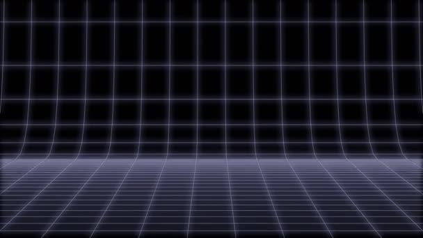 80-as évek retro neon kerek nettó háttér Loop 3d render