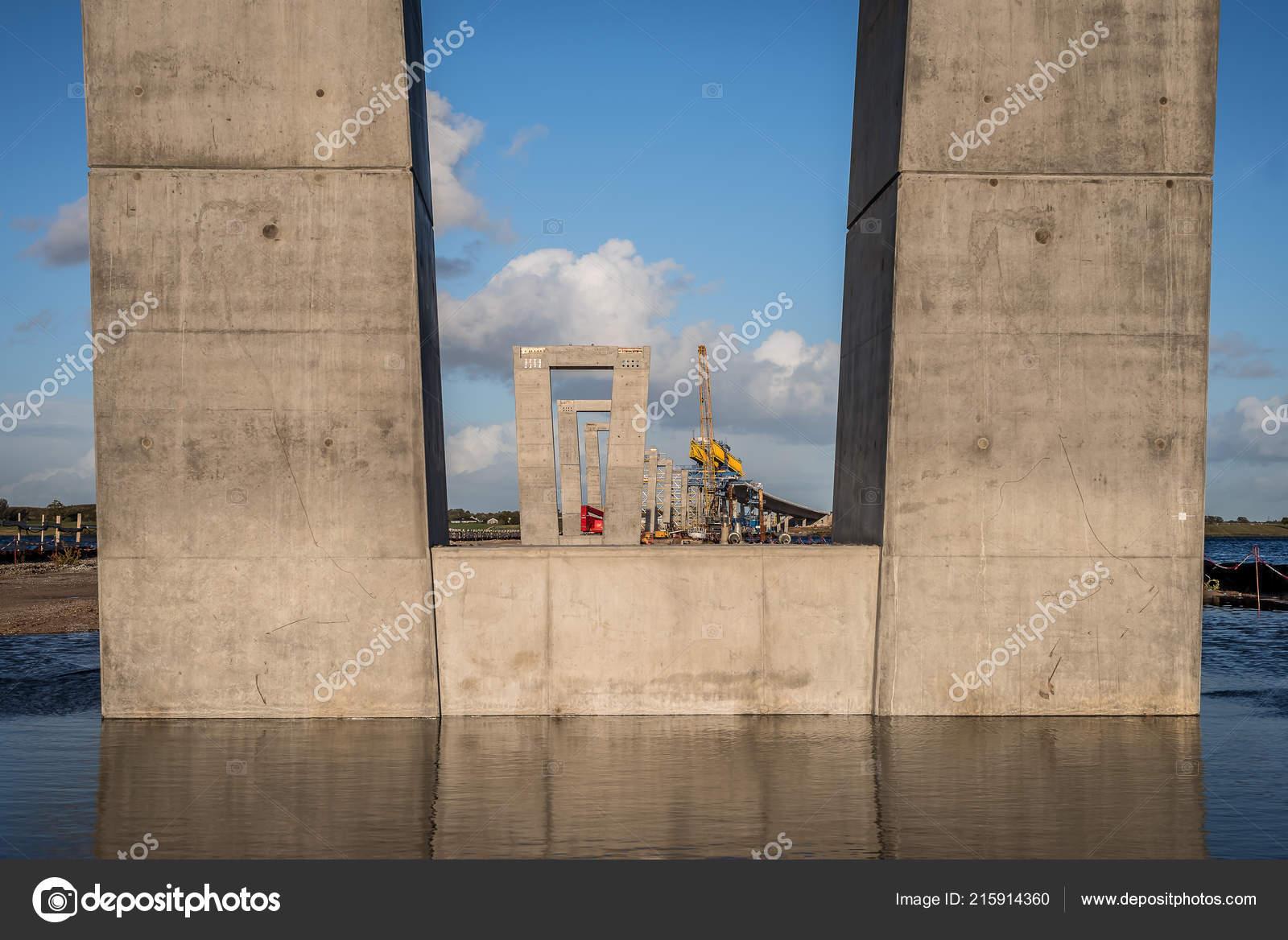Concrete Pylon Crown Princess Mary Bridge Construction Site