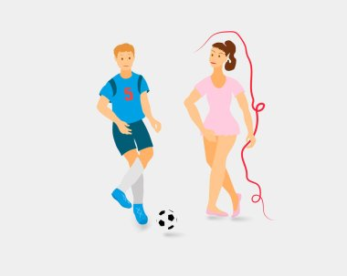 3D People doing different kinds of sports illustration