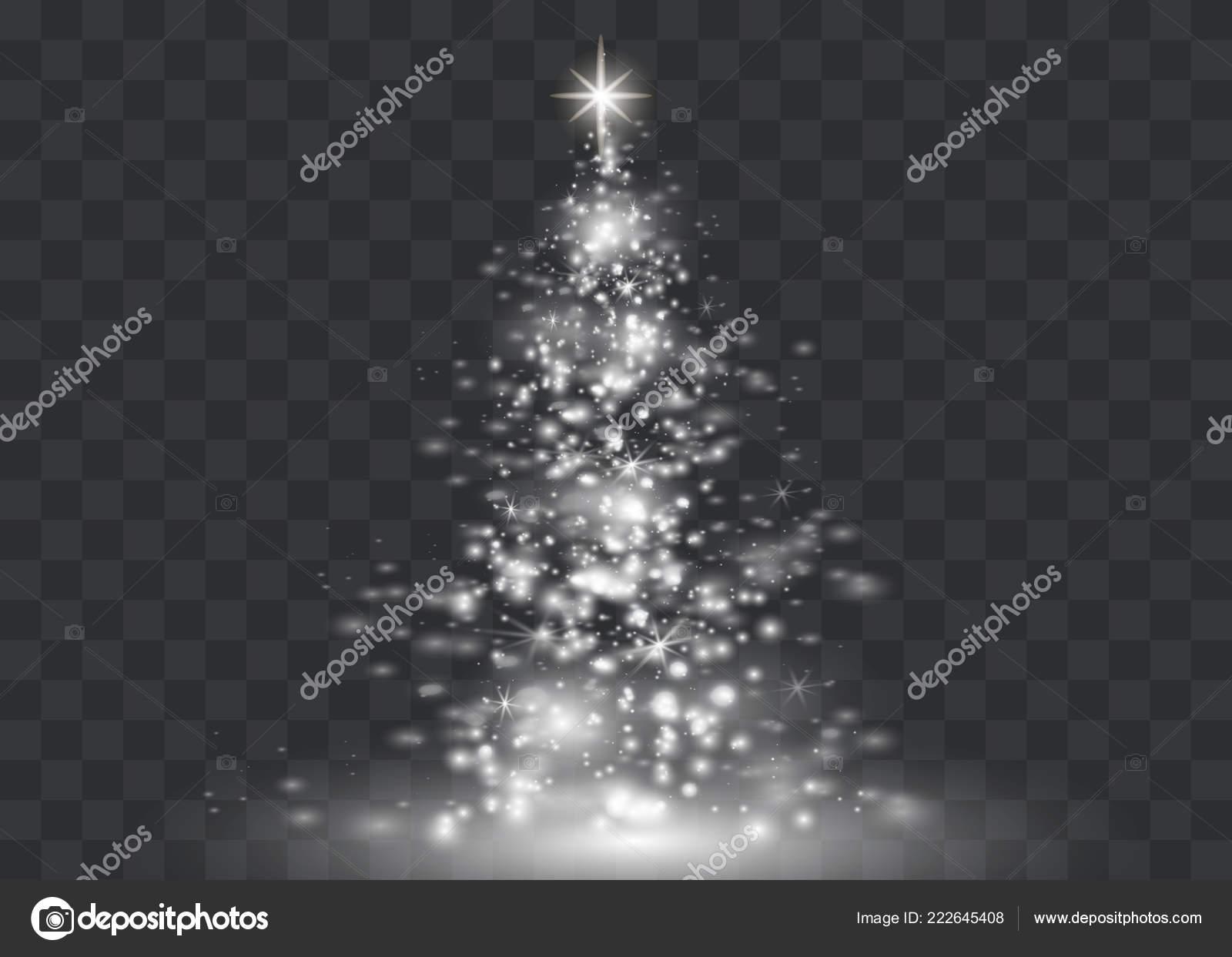 Christmas Tree Transparent Background.Background Christmas Tree Clear Silver Christmas Tree
