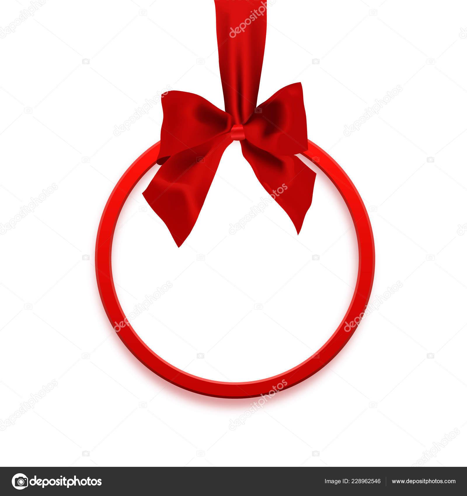 Bannière Vierge Carré Sous Forme Cadeau Noël Avec Ruban