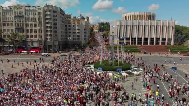 Kijev, Ukrajna-július 27, 2019: vallási felvonulás az ortodox keresztények ünnepe a keresztség a Rus, Ukrajna, Oroszország.