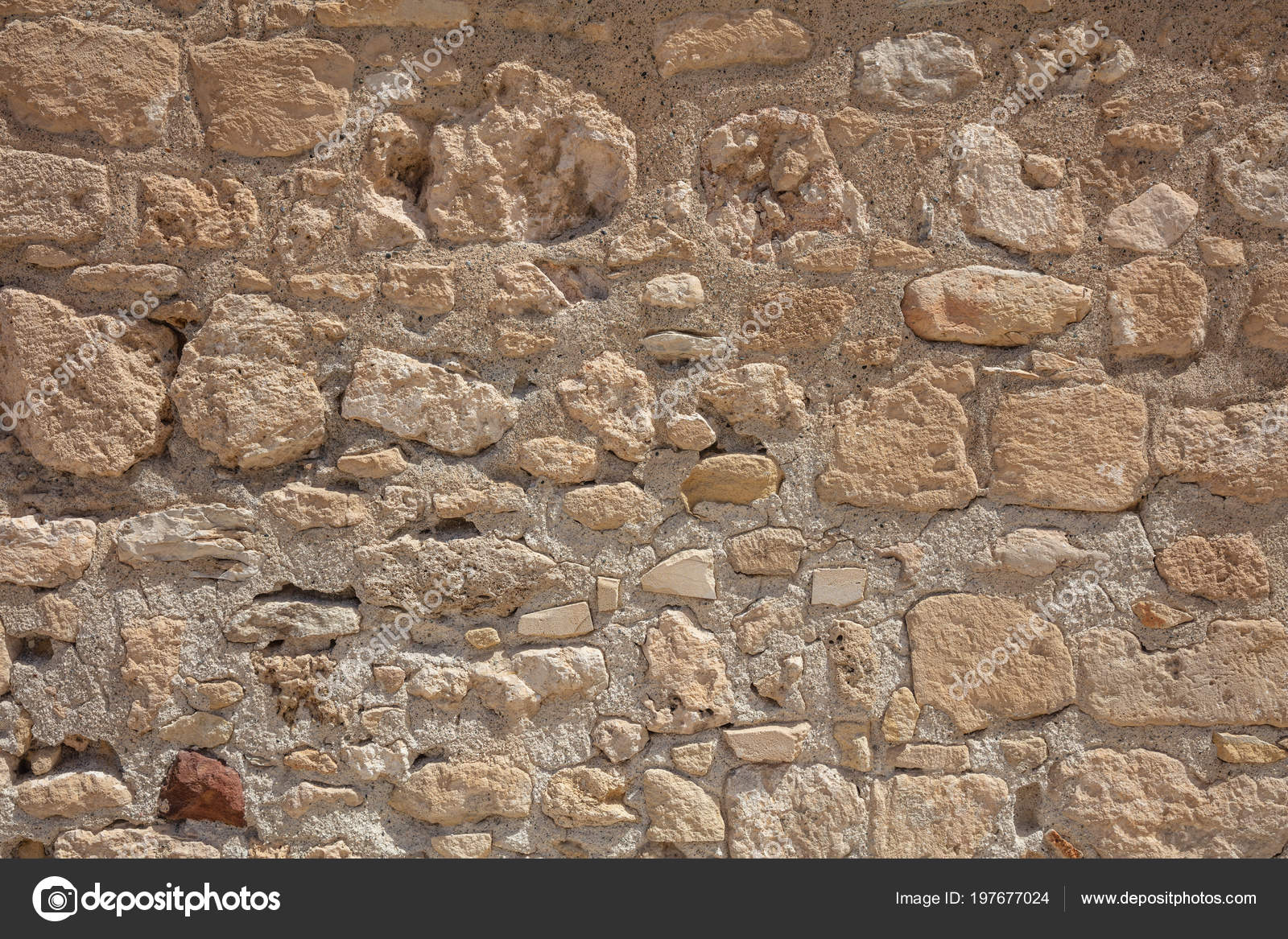Traditional Weathered Sand Stone Wall Background Cyprus