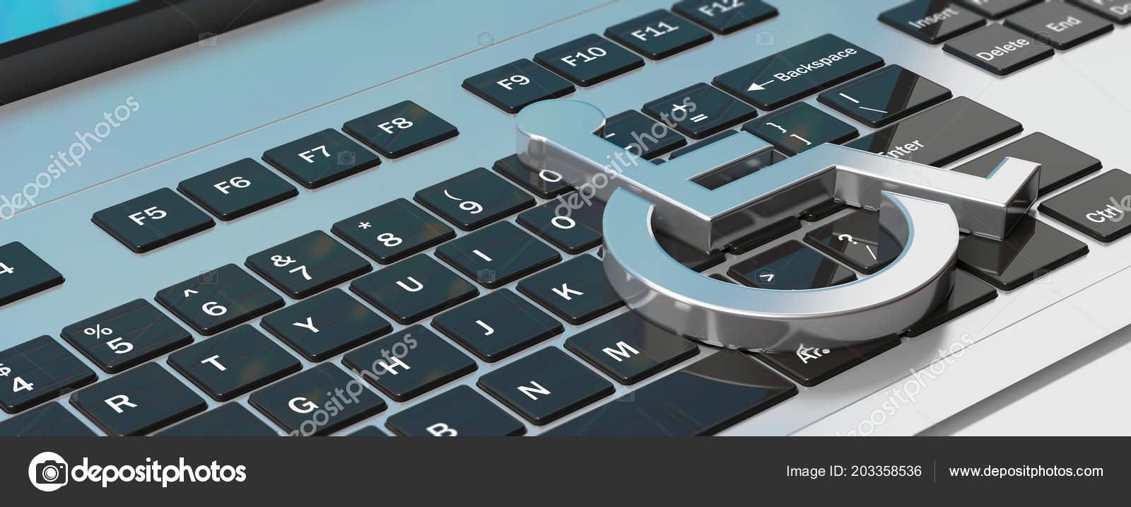 Technology Disabled Wheelchair Sign Computer Laptop Keyboard Banner Illustration Stock Photo C Gioiak2 203358536