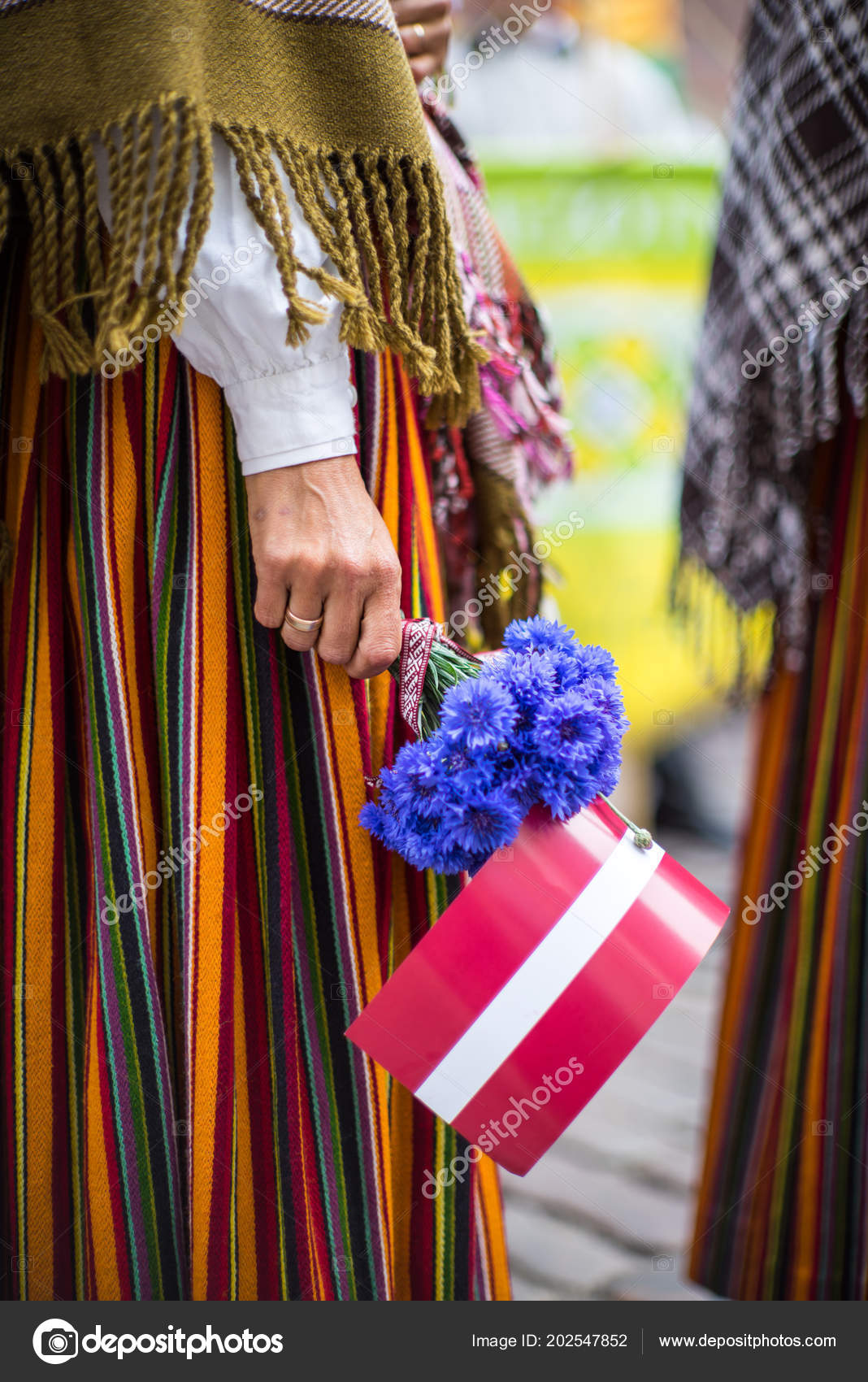 Song And Dance Festival In Latvia Procession In Riga Elements Of