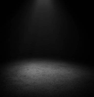 Dark Floor Background Black Empty Space for display your products, black Concrete Surface Ground Texture. stock vector