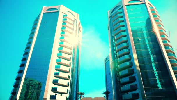 Modern high rise buildings business center in United Arab Emirates