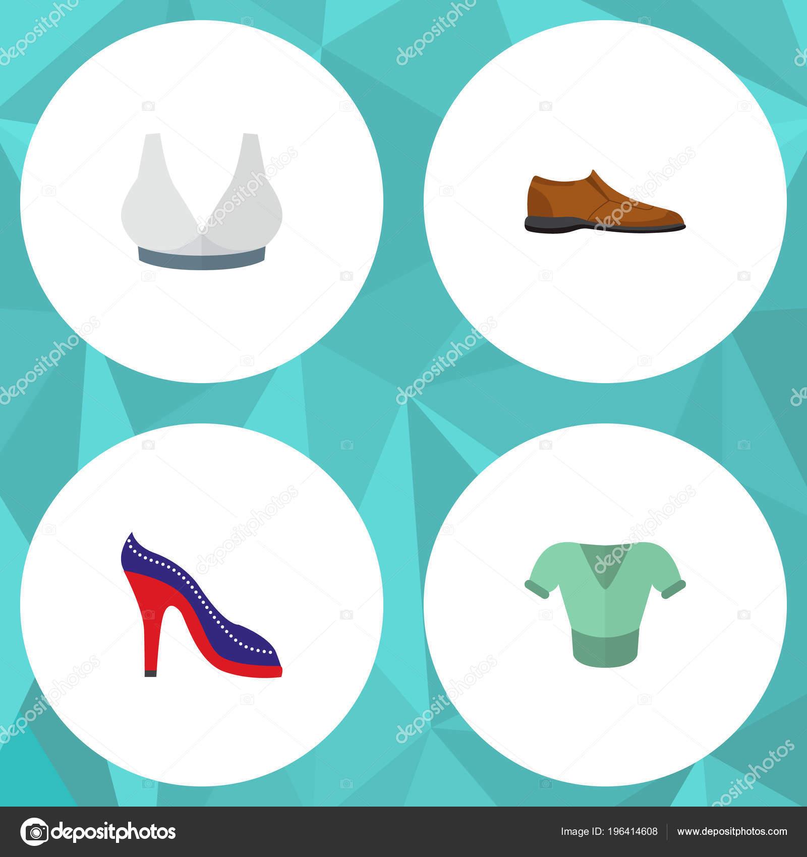 603de4f6c7 Ikona plochý oblečení sada člověk boty