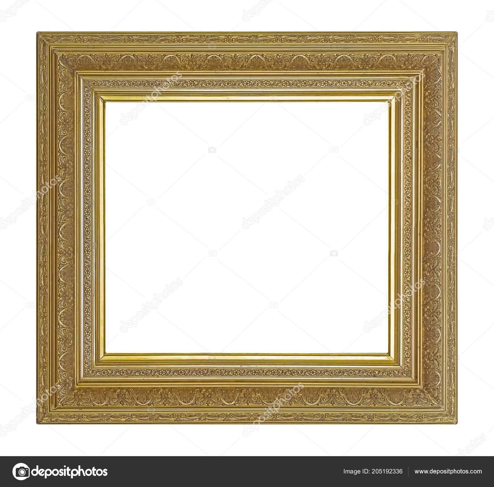 Goldener Rahmen Für Bilder Spiegel Oder Foto — Stockfoto © Prokrida ...