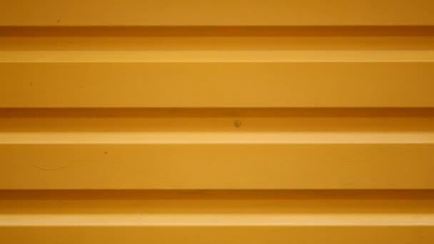 close up orange metal door