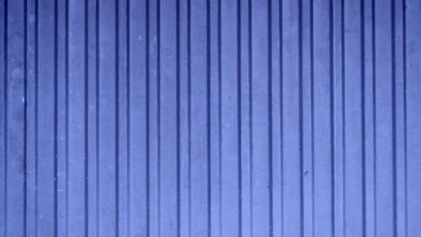 close up blue metal door